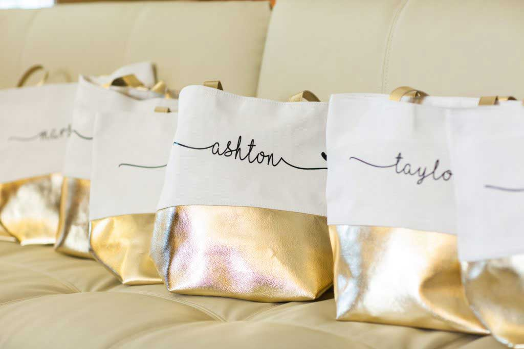personalized bag with fabric print